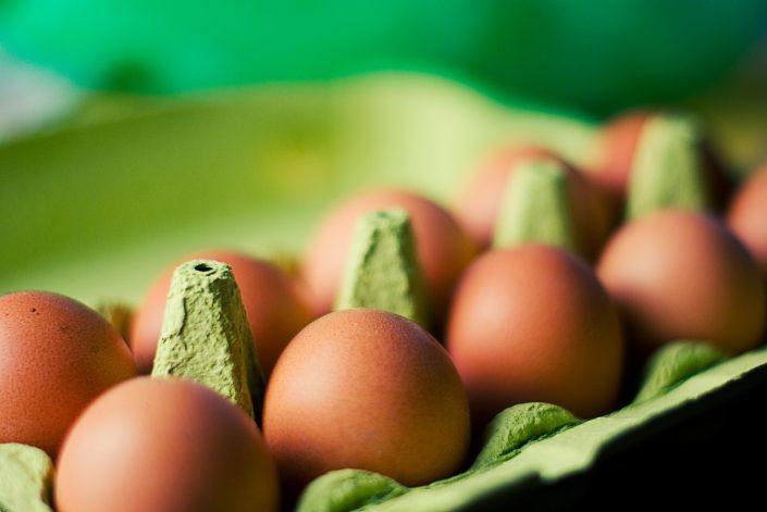 Eier für Zitronenkuchen