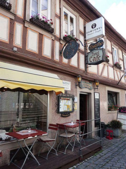 """Frankens älteste Konditorei, Café Kehl, besitzt das Markenrecht an der """"Muskatzine"""", mit """"t"""""""
