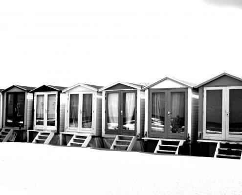 Holländische Strandhäuser