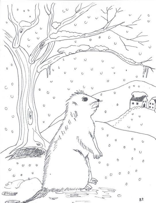 Wintergeschichte für Kinder, illustriert und geschrieben von Birgit Puck