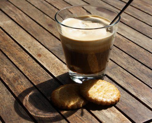 Einspänner, Mocca Kaffee mit Sahne