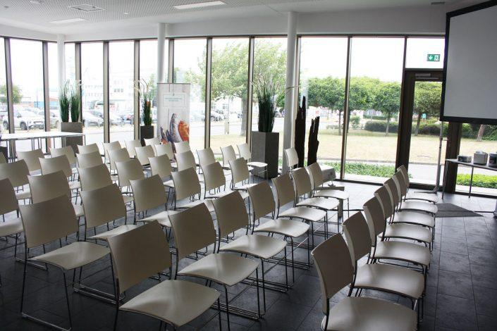 Vorträge gab's am Rande des Koch-Events in der Showküche im Fischbahnhof