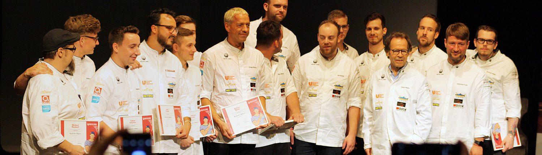 Teilnehmer Koch des Jahres im Vorfinale Bremerhaven und Präsident Dieter Müller
