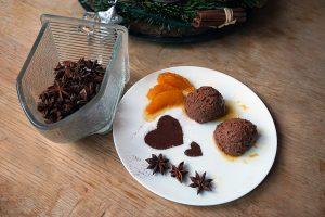 Mousse au Chocolat mit Orangenjus