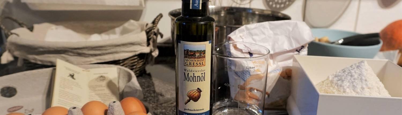 Mohnhof Gressl, Waldviertel, Österreich produziert dieses Blaumohnöl
