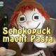 Schokopuck macht Pasta - Film mit der Handpuppe auf Youtube