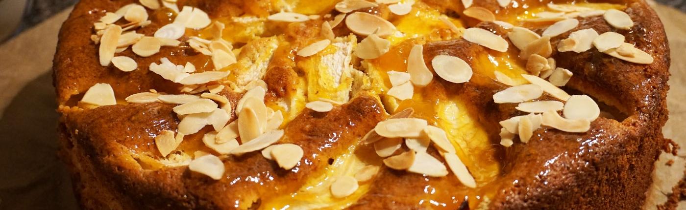 Kuchenrezept Kürbiskuchen, einfaches Rezept mit Kürbis und Äpfeln für die Springform